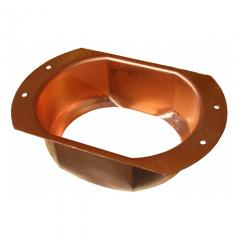 K Style Copper Oval Outlet (Bulk)
