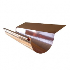 Copper Half Round Highback Gutters