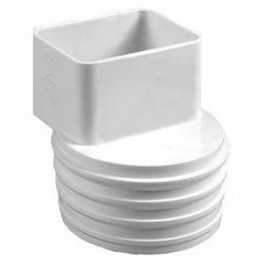 Flex Downspout Adapters - White