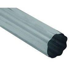 Freedom Gray Copper Round Corrugated Downspouts