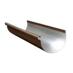 Designer Copper Aluminum Half Round Reverse Bead Gutters