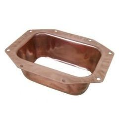 K Style Copper Rectangular Outlet - Wide Flange (Bulk)