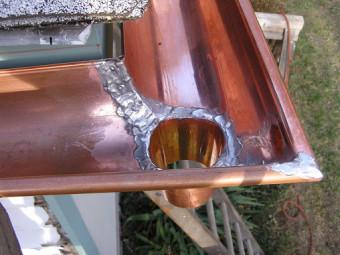 Soldering Copper Gutters